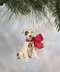 Big Bow Puppy Ornament