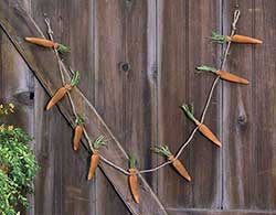 Orange Fabric Carrot Garland