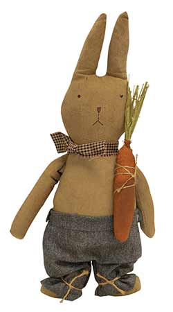 Grungy Standing Bunny Doll with Carrot
