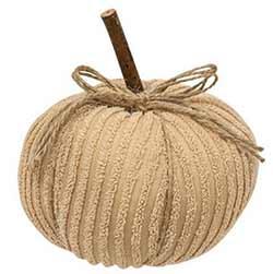 Ivory Chenille Pumpkin - 6 inch