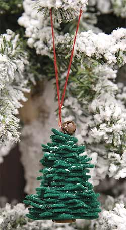 Green Felt Christmas Tree Ornament