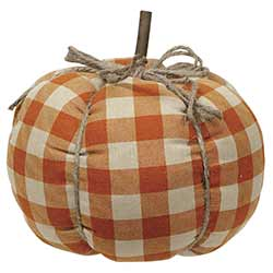 Orange Buffalo Check Pumpkin - Large