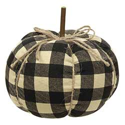 Black Buffalo Check Pumpkin - Medium