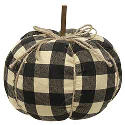 Black Buffalo Check Pumpkin - Small