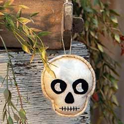 Skeleton Felt Ornament