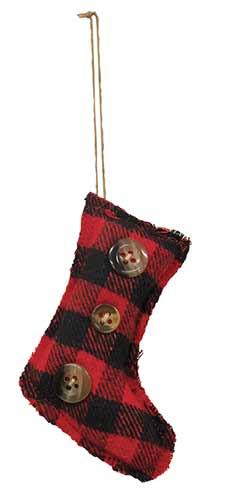 Buffalo Check Stocking Ornament