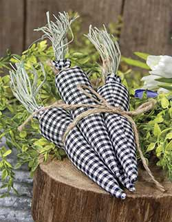 Black and White Gingham Carrot Bundle