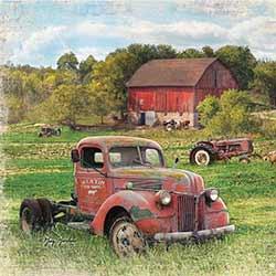 Retired Farm Truck Coaster