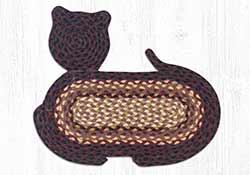 Black Cherry, Chocolate, & Cream Braided Cat Rug