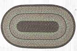 Moss Bark 27 x 45 inch Braided Rug - Oval