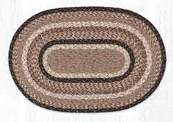 Sandstone & Quartz 20 x 30 inch Braided Rug - Oval