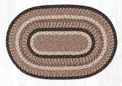 Sandstone & Quartz 20 x 30 inch Braided Rug - Oval