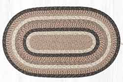 Sandstone & Quartz 27 x 45 inch Braided Rug - Oval