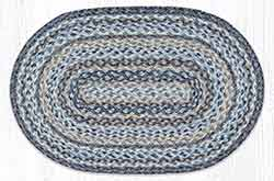 Denim 20 x 30 inch Braided Rug - Oval