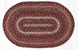 Ruby Rose 20 x 30 inch Braided Rug - Oval
