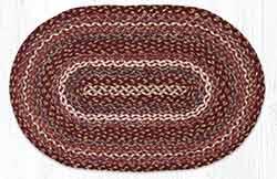 Ruby Rose 20 x 30 inch Braided Rug - Oval