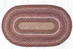 Ruby Rose 27 x 45 inch Braided Rug - Oval