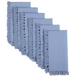 Cassidy Solid blue Napkins (Set of 6)