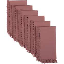Cassidy Solid Mauve Napkins (Set of 6)
