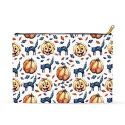 Cats & Jacks Halloween Zipper Pouch