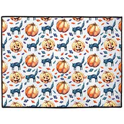 Cats & Jacks Halloween Floor Mat (Indoor/Outdoor)