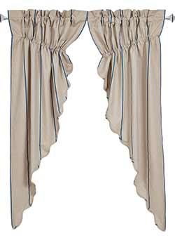 Charlotte Azure Prairie Curtain (63 inch)