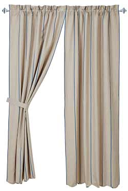 Charlotte Azure Curtain Panels (84 inch)