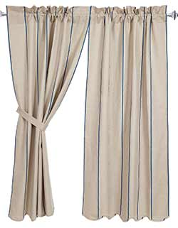 Charlotte Azure 63 inch Curtain Panels