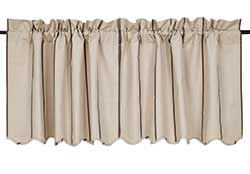 Charlotte Slate Cafe Curtains - 24 inch Tiers