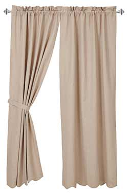 Charlotte Solid Natural Curtain Panels (84 inch)