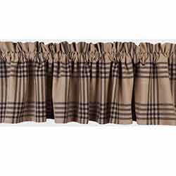 Chesterfield Check Black Valance