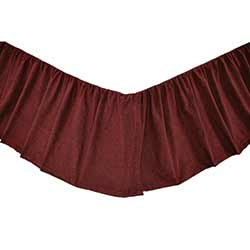 Cheyenne American Red Bed Skirt - Queen