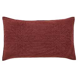 Cheyenne American Red Sham - Luxury