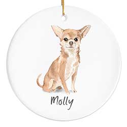 Chihuahua Personalized Ornament
