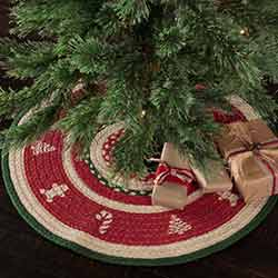 Christmas Cookies Mini 21 inch Tree Skirt