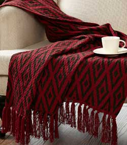 Christmas Ikat Woven Throw