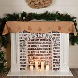 Cookie Cutter 72 inch Mantel Scarf