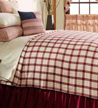Clayton Red Coverlet - King