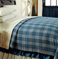 Easton Blue Coverlet - Queen