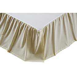 Creme Chambray Bed Skirts (Multiple Size Options)