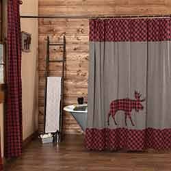 Cumberland Moose Applique Shower Curtain