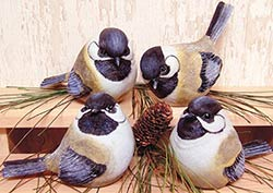 Chickadee Bird Figurine