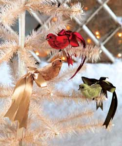 Christmas Ribbon Bird Ornament