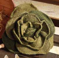 Burlap Cabbage Ornament