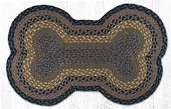 Brown, Black & Charcoal Dog Bone Braided Rug