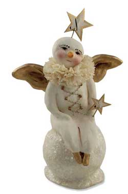 Snow Angel On Snowball Seated