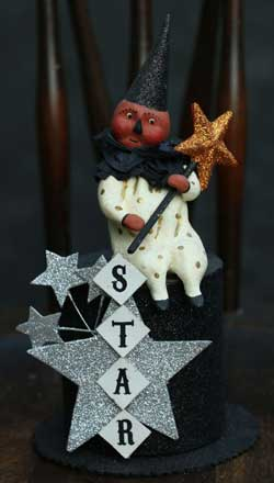 Bethany Lowe Star Clown on Top Hat Container