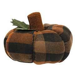 WT Collection Autumn Plaid 5 inch Pumpkin