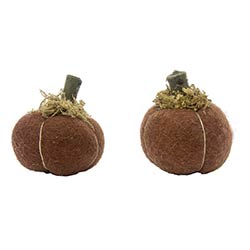 Mini Felt Pumpkins (Set of 2)