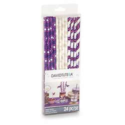 Purples Paper Straws (Set of 24)